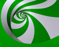 Spearmint twirl. Abstract fractal spiral image in spearmint colors Stock Photo