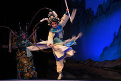 """Spearplay-Peking Opera"""" Women Generals of Yang Family"""". This opera tells a patriotic story how does an old woman of a hundred years old go out for a Stock Image"""