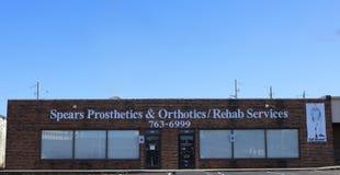 Spears Prosthetics & Orthotics, Memphis, TN. Spears Prosthetics & Orthotics Rehabilitation Services, fits and fabricates Prosthetics Limbs and Orthotic Braces royalty free stock images
