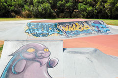 Spearwood Skate Park: Urban Art Royalty Free Stock Photos