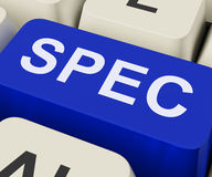 Spec Keys Show Specifications Details Or Design Stock Photography