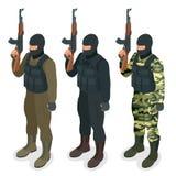 Spec ops警察在黑人一致的战士,官员,狙击手,特别行动单位扑打,扑打等量平的3d 皇族释放例证