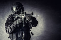 Spec ops警察拍打 免版税图库摄影