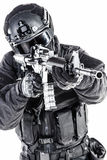 Spec ops police officer SWAT Royalty Free Stock Images