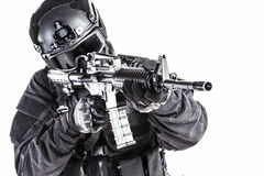 Spec ops police officer SWAT Royalty Free Stock Image