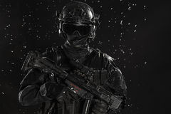 Spec ops police officer Royalty Free Stock Image
