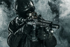 Spec ops police officer SWAT Stock Images