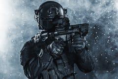 Spec ops police officer SWAT Stock Image