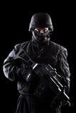 Spec ops soldier on black background. Spec ops soldier on the black background royalty free stock images