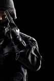 Spec ops soldier on black background Royalty Free Stock Photos