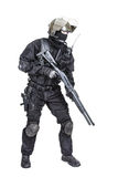 Spec ops soldier with shotgun Stock Photography