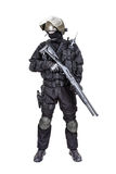 Spec ops soldier with shotgun Stock Photo