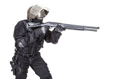Spec ops soldier with shotgun Royalty Free Stock Image