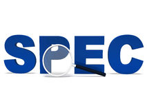 Spec Word Shows Specifications Requirements. Spec Word Showing Specifications Requirements Particulars Or Designs Royalty Free Stock Images