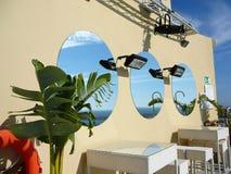 Specchi rotondi Fotografia Stock Libera da Diritti