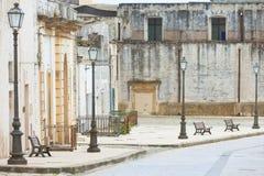 Specchia, Apulien - Besichtigen der historischen alten Stadt von Specchia stockfotografie