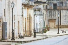 Specchia, Apulien - Besuchen des historischen alten Stadtzentrums von Spezifikt. lizenzfreie stockfotografie