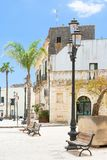 Specchia, Apulien - schönes altes Stadtzentrum von Specchia stockfotos