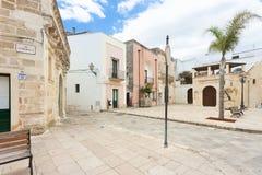 Specchia, Apulien - traditionelles Leben in der alten Stadt von Specchi stockbilder