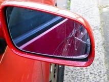 Specchietto retrovisore esterno incrinato Fotografia Stock Libera da Diritti
