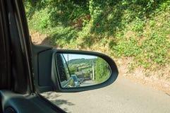 Specchietto retrovisore nella campagna britannica Immagine Stock