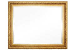 Specchio con il blocco per grafici Fotografia Stock Libera da Diritti