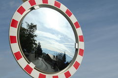 Specchio congestionato di traffico Immagine Stock
