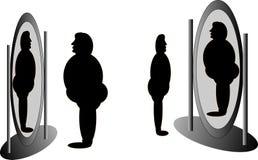 Specchio contro me Fotografia Stock