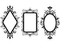 Specchio d'annata della struttura Fotografie Stock