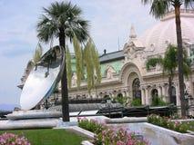 Specchio del cielo e di Monte Carlo Casino Fotografie Stock Libere da Diritti