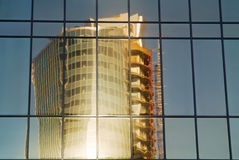 Specchio della costruzione Fotografia Stock