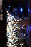 Specchio delle luci di natale dell'albero del nuovo anno di Natale fotografie stock