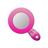 Specchio delle signore rosa Immagine Stock