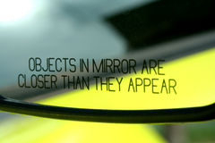 Specchio di automobile fotografia stock