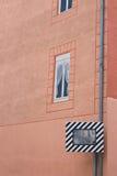 Specchio di sicurezza stradale su un angolo Immagini Stock Libere da Diritti