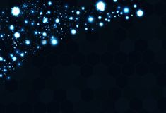 Specchio di vetro digitale futuristico di tecnologia geometrica del poligono blu illustrazione di stock