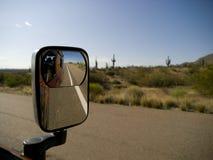 Specchio di vista laterale Immagini Stock