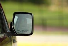 Specchio di vista laterale sull'automobile Immagine Stock Libera da Diritti