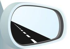 Specchio e la strada Fotografie Stock Libere da Diritti