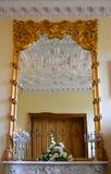 Specchio incorniciato oro Immagini Stock Libere da Diritti