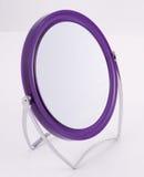 Specchio incorniciato resina viola Fotografie Stock Libere da Diritti