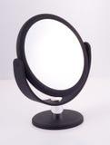 Specchio nero con il basamento Fotografia Stock