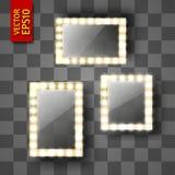 Specchio per trucco o una struttura della foto illustrazione vettoriale
