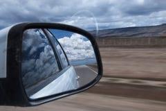 Specchio retrovisore fotografia stock