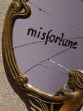 Specchio rotto Fotografie Stock