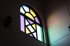 Specchio variopinto della finestra Fotografia Stock Libera da Diritti