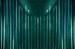 Specchio verde del metallo Fotografia Stock