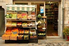 Speceriaffär i Spanien royaltyfri fotografi