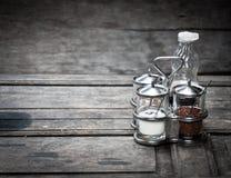 Specerij in glas voor voedsel royalty-vrije stock foto