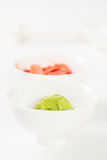 Specerij voor een Japanse maaltijd stock foto's